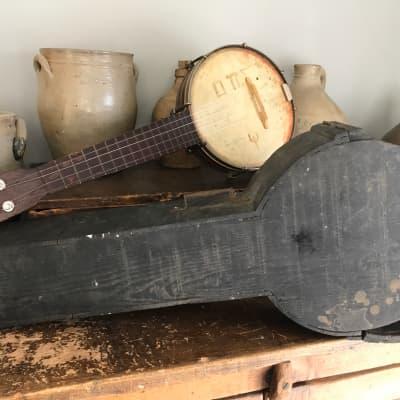 Rare 1920s Oscar Schmidt Stella  Soprano Banjo Ukulele with Original Handmade Case