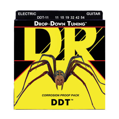 DR DDT-11 Drop Down Tuning Extra Heavy Electric Guitar Strings (11-54)