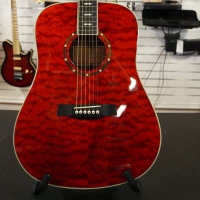 Hagstrom D15QTR Transparent Red for sale