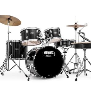 """Mapex RB5844FTCDK Rebel 18x16"""" / 10x7"""" / 12x8"""" / 14x12"""" / 14x5"""" Complete 5pc Junior Kit w/ Cymbals"""