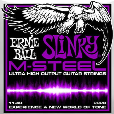 Ernie ball M-Steel Guitar Stings Power Slinky 11-48 for sale