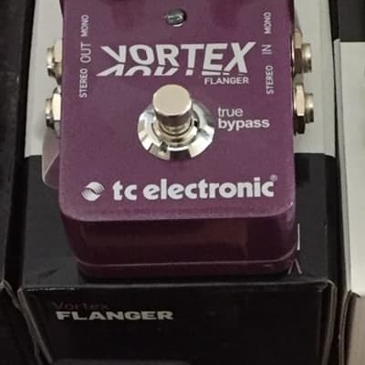 TC Electronic Vortex Flanger Effects Pedal Exc. Cond with NEW TC Power Supply
