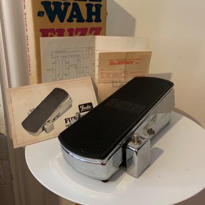 60's Fender Fuzz Wah w/box, papers, & original receipt.  Fuzz/vol work, wah does not