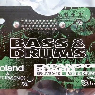 Mint! Roland srjv80 srjv-80 sr-jv-80 SR-JV80-10 Bass and DRUMS Expansion Sound Board ROM Drum & Bass
