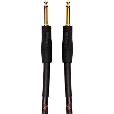 """Roland Gold Series 5ft Instrument Cable, Straight/Straight 1/4"""" jack"""