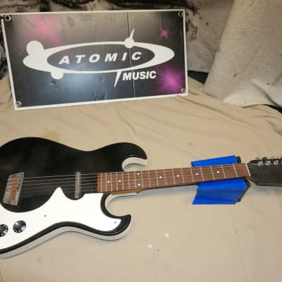 Silvertone ( Danelectro ) Model 1448 Guitar Sparkle Black for sale