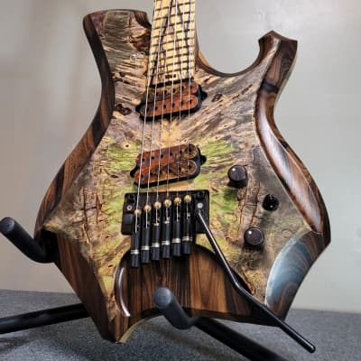 Barlow Guitars Osprey Hybrid Headless 2021 Hybrid Burl/Zirocote/Pale Moon Ebony for sale
