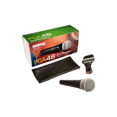 Shure PGA48LC Cardioid Dynamic Vocal Mic, No Cable