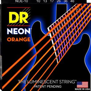 DR Neon Phosphorescent Orange HiDef Medium Electric Guitar Strings