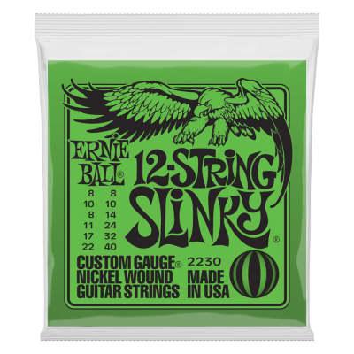 Ernie Ball 2230 Regular Slinky 12-String Nickel Wound Electric Guitar Strings - .008-.040