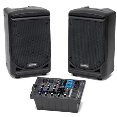 Samson Expedition XP300 300-Watt 6″ Portable PA Stereo 2Way Monitors w/Mixer, Bluetooth 809164020745