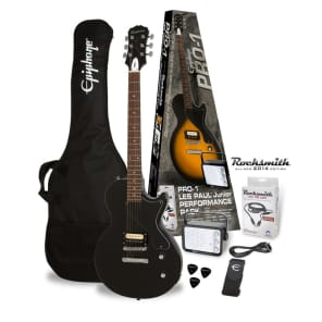 Epiphone PRO-1 Les Paul Jr. Pack (Equipped with Rocksmith), Ebony for sale