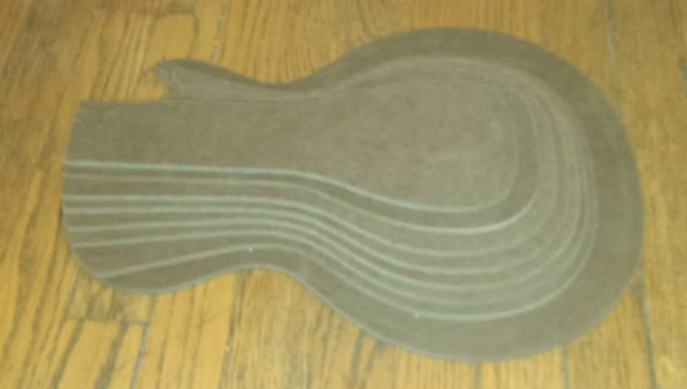 guitar building templates Les Paul Guitar archtop carving | Reverb