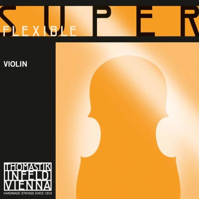 Thomastik-Infeld 8 1/16 SuperFlexible Chrome Wound Rope Core 1/16 Violin String - E (Medium)