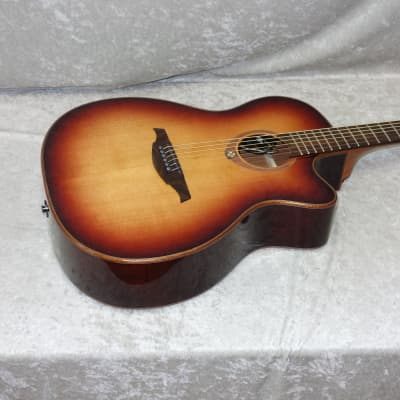 LAG T100ACE-BRS acoustic electric Auditorium cutaway guitar in brown sunburst for sale