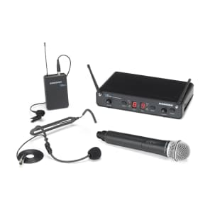 Samson Concert 288 All-In-One Dual-Channel UHF Wireless Handheld/Lavalier Mic System - H Band (470-518 MHz)