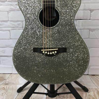 Daisy Rock DR6206 Pixie Rock Acoustic Silver Sparkle for sale