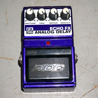 Vintage DOD FX96 Echo FX Analog Delay Pedal Purple for sale