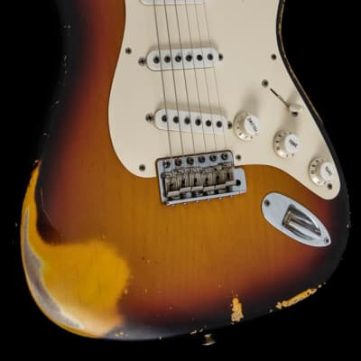 Fender Custom Shop '56 Stratocaster Heavy Relic Masterbuilt Yuriy Shishkov 2005 Sunburst for sale