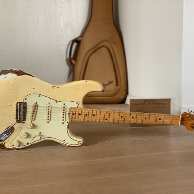 RebelRelic  RebelRelic 59 S-Series Relic Boutique Vintage StratRebel Vintage SRV PU´s 2020 Dirty White Blonde Aged for sale