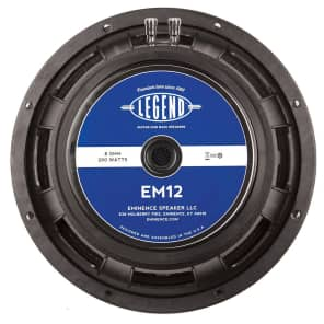 "Eminence Legend EM12 12"" 200w 8 Ohm Replacement Speaker"