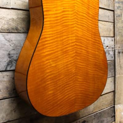 Vintage Hofner German Acoustic Guitar w/ Flame Maple back/sides w/ gig bag for sale