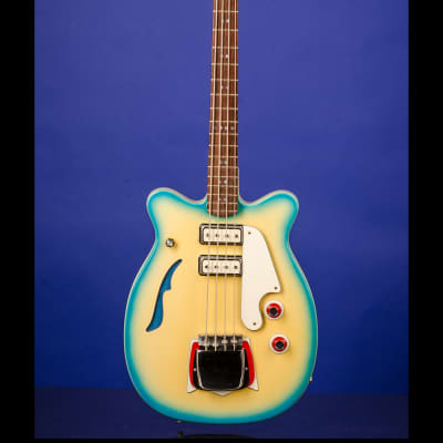 Micro-Frets Rendezvous Bass (Style 1) 1967 Martian Blueburst for sale