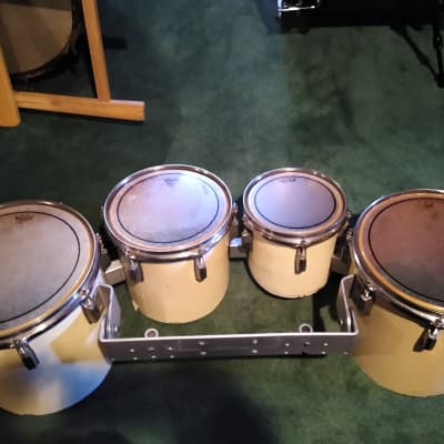 """Pearl Marching Tenors 8"""",10"""",12"""" and 13""""  White Wrap"""