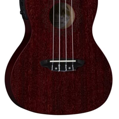 Luna UKE VMC EL RDS, Vintage Mahogany Ukulele, Concert with Preamp, Red Satin for sale