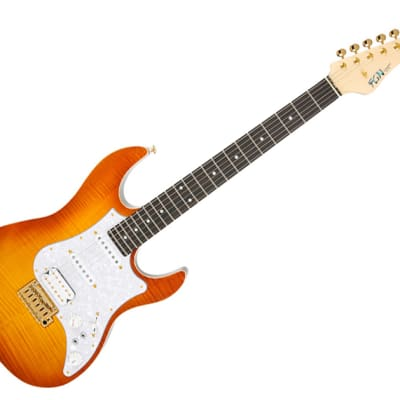 Fujigen Expert  Odyssey EOS-FM-R  Orange Burst Electric Guitar for sale