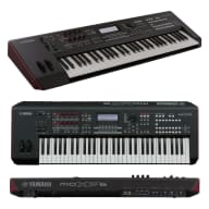 Yamaha MOXF6 61-Key Synth Workstation w/ FREE Keyboard Stand and headphones