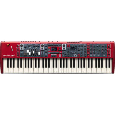 Nord Stage 3 Compact 73-Note, Semi-Weighted Waterfall Keybed with Physical Drawbars