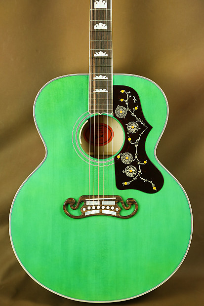 Gibson Sj 200 Emerald Green Custom Acoustic Guitar J 200 Reverb