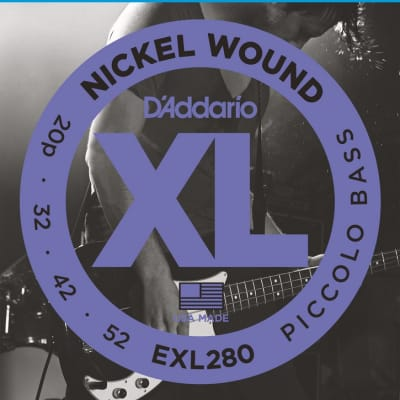 D'Addario EXL280 Nickel Wound Piccolo Bass, 20-52, Long Scale