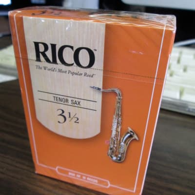 Rico RKA1035 Tenor Saxophone Reeds - Strength 3.5 (10-Pack) 2010s Standard