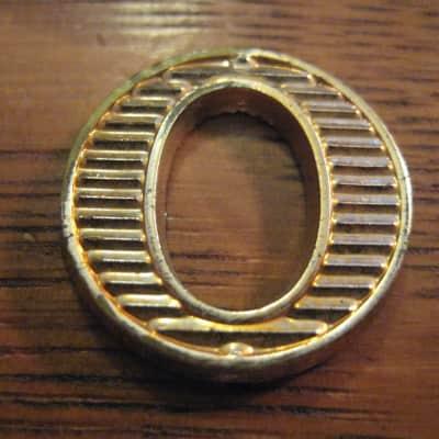 Vox Gold Amp Small Singel O Logo AC-30 AC-15 AC-10 1964