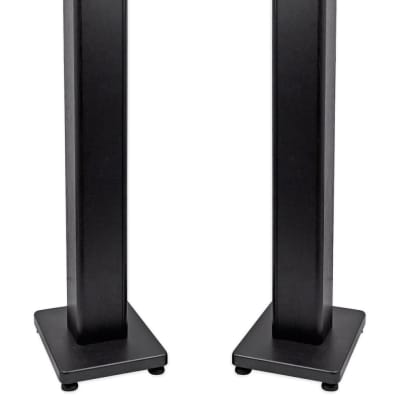 "Pair Rockville RockShelf 68B Black 6.5"" Home Bookshelf Speakers + 36"" Stands"