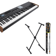 Arturia Keylab 88 MIDI/USB Keyboard Controller-BLK W/ Accenta ACC-KBST X-Stand