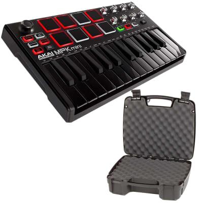 Akai MPK Mini MKII MPC 25-Key Compact USB Keyboard Pad Controller Black w Case