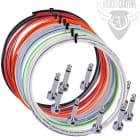Lava Piston Solder-Free Pedal Board Cable Kit - 10 R/A Plugs + 10' Cable - Black image