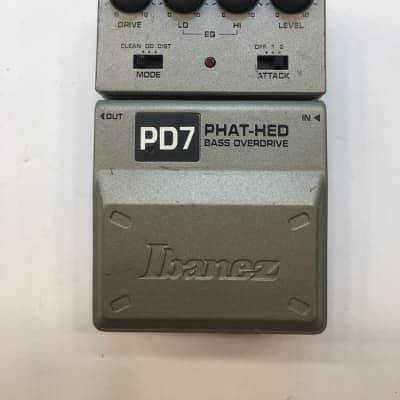 Ibanez PD7 Tone-Lok Phat Hed Bass Overdrive Distortion Rare Guitar Effect Pedal