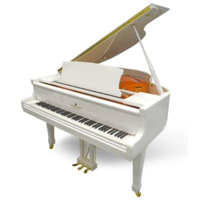 Schiller Performance Leipzig Baby Grand Piano  White Polish