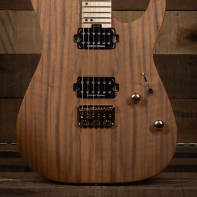 Charvel Pro-Mod DK24 HH HT M Mahogany with Figured Walnut, Maple Fingerboard, Natural for sale