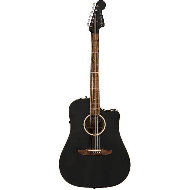 fender redondo special matte black acoustic electric guitar reverb. Black Bedroom Furniture Sets. Home Design Ideas
