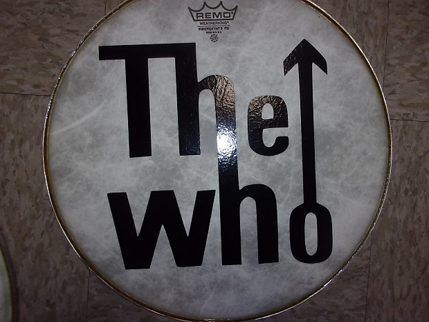 The Who Band Logo Black Design On A Remo 14 Drum Head Reverb