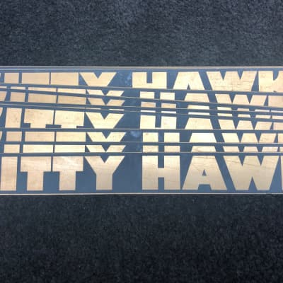 KITTY HAWK AMP logo/decal, made to orginal specs.  2020 brass black for sale