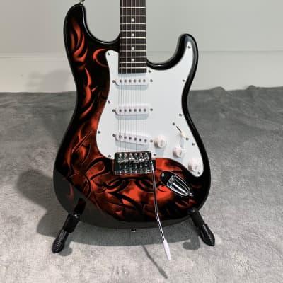 Glarry Stratocaster  Black/Tribal (stock# 27064-1 BK) for sale