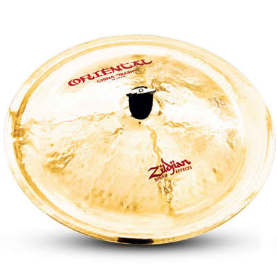 "Zildjian 18"" Oriental China ""Trash"" Cast Bronze Drumset Cymbal with Medium-High Profile A0618"