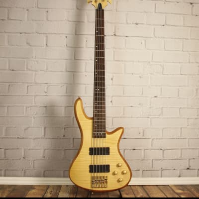 Schecter Stiletto Custom-5 Active 5-String Bass Natural Satin