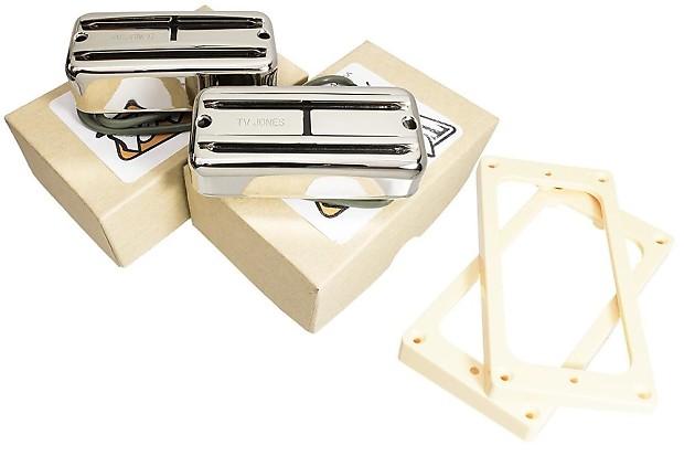 tv jones supertron neck bridge pickup set nickel uv reverb. Black Bedroom Furniture Sets. Home Design Ideas